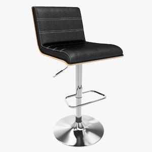 3d bar stool vasari model
