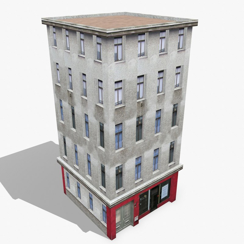 3d model photorealistic building apartment 11