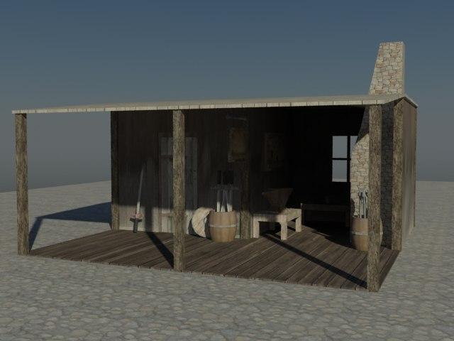 blacksmithing medieval 3d model