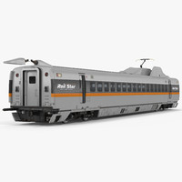 Bullet Train Passenger Car Rail Star Rigged