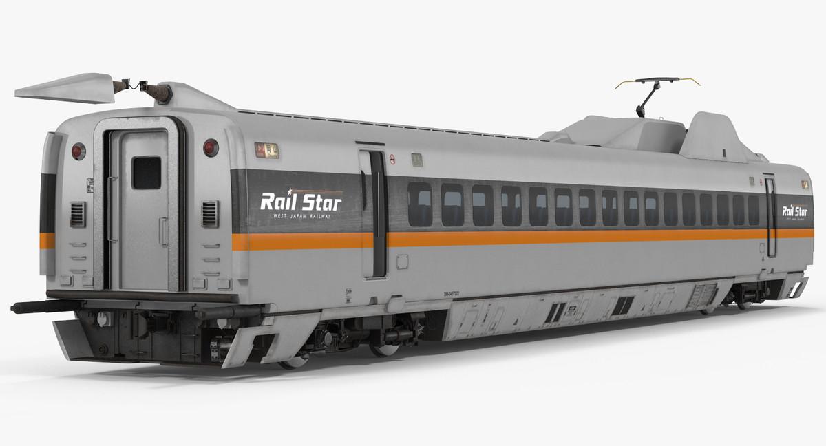 3d bullet train rail star