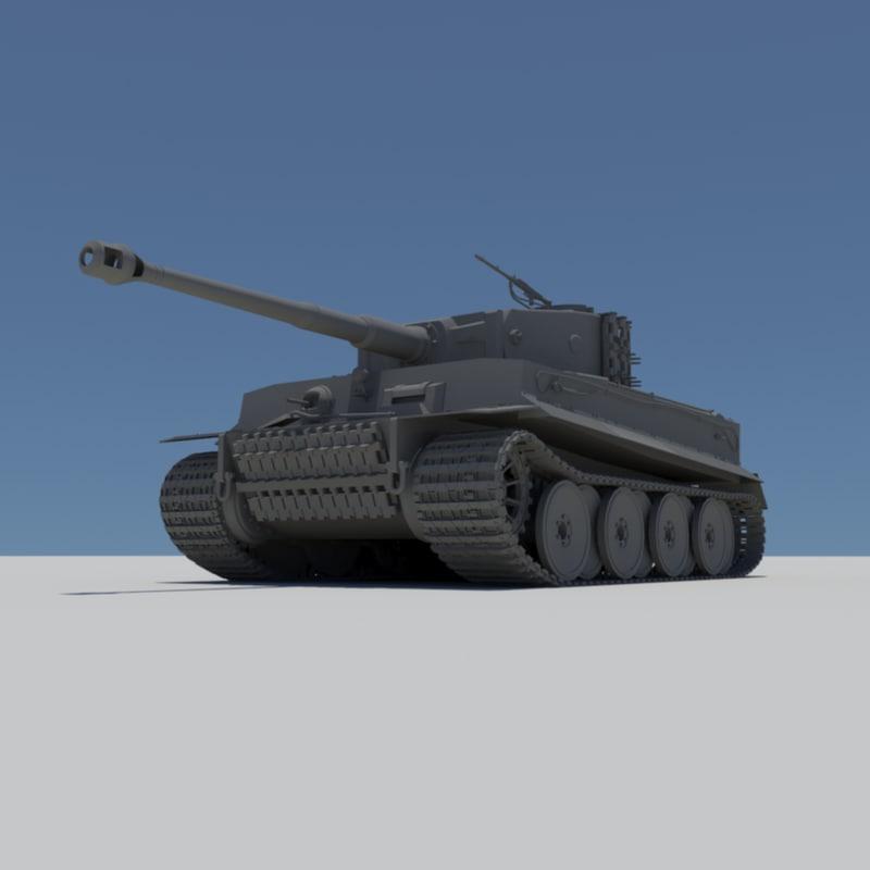 3d tiger tank model