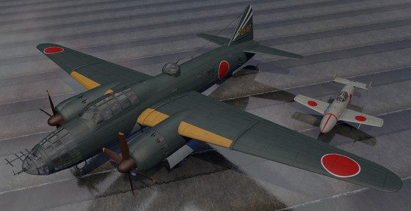 3d plane mitsubishi g4m2 betty model