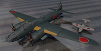 3d plane mitsubishi g4m2 betty model