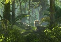 forest scene tiger 3d model