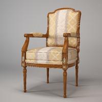 3d armchair ceppi 1360 model
