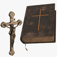 Crucifix and Vintage Bible