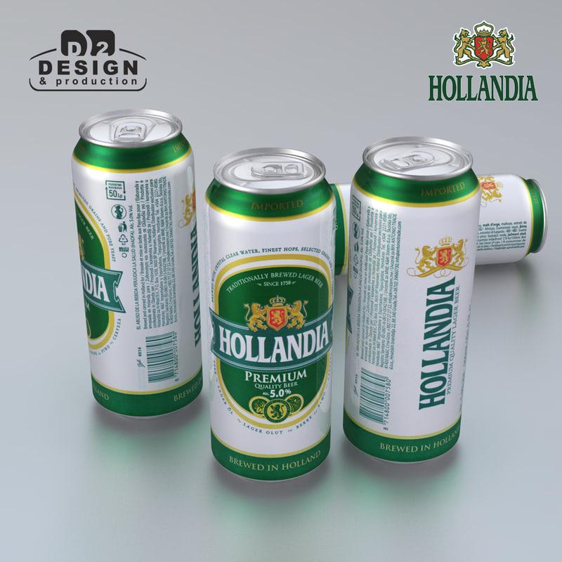 beer hollandia 3d model