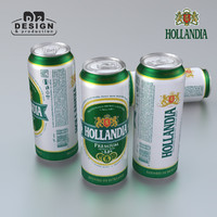 beer hollandia 3d model