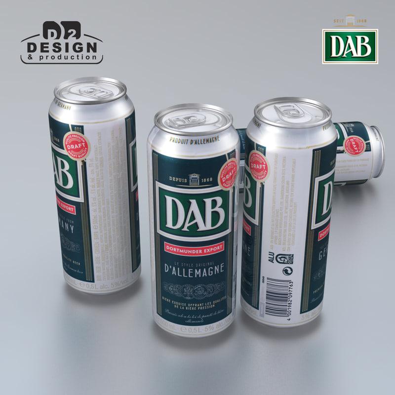 beer dab 3d max
