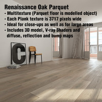 3d max renaissance oak parquet hardwood floor