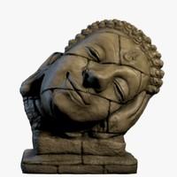 3d buddha head