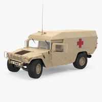 ambulance car hmmwv m996 3d model