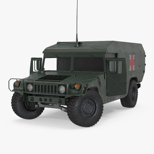 ambulance military car hmmwv 3d max