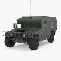 Ambulance Military Car HMMWV m996 3D Model