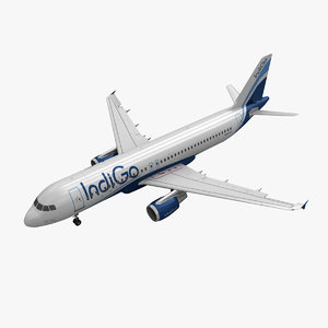 3d model airbus a320 indigo animation