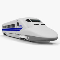 3d bullet train jr700 locomotive model