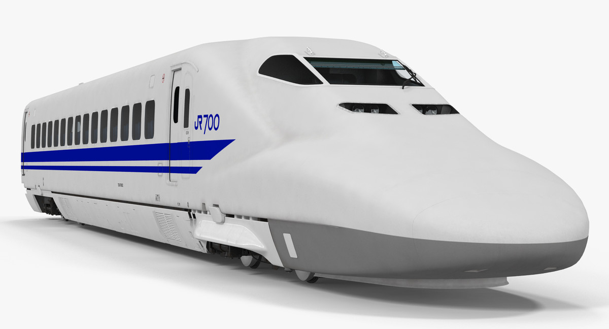 3d bullet train jr700 locomotive model