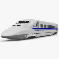 Bullet Train JR700 Locomotive Japan Railways Rigged