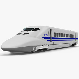 3d model of bullet train jr700 locomotive