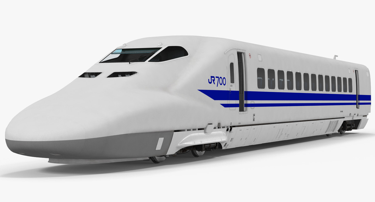 3d model of bullet train jr700 locomotive