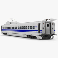 3d bullet train jr700 passenger model