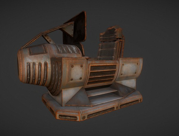 3d model control module rusty version