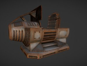 3d model control module rusty version