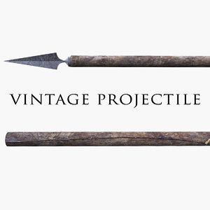 3d model vintage projectile