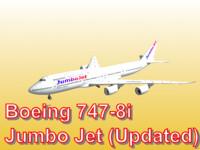 boeing 747-8i jumbo jet obj