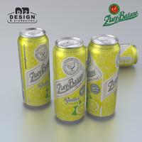 beer zlaty bazant radler 3d max