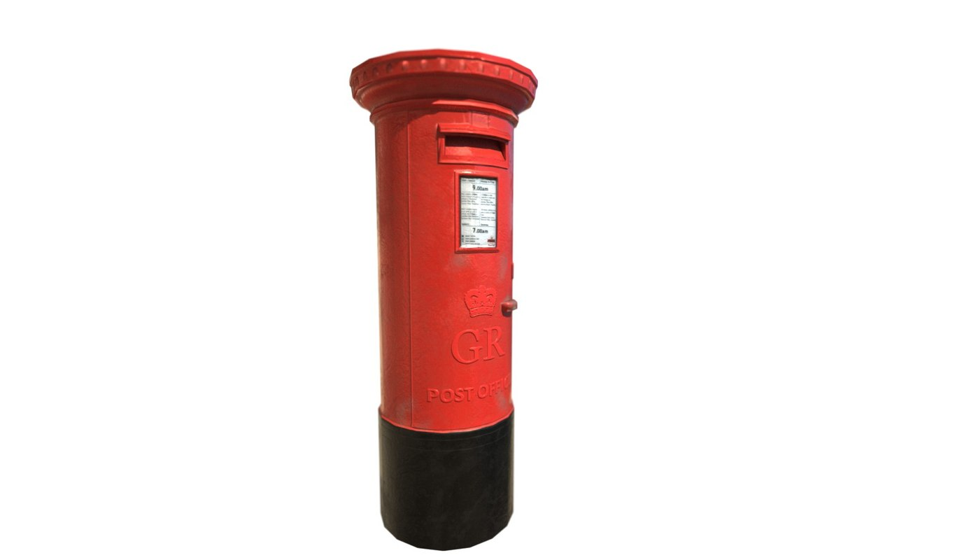 3d postbox modelled model
