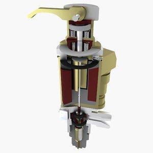solenoid valve drawing 3d max