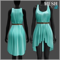 3d model dress green