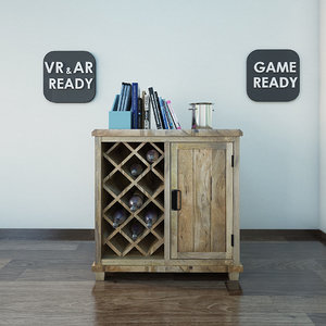 furniture bar cabinet games 3d model