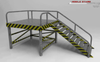 3d model mobile stairs