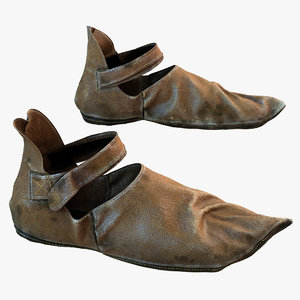 medieval leather shoes max