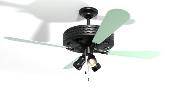 3d model ceiling fan lamp