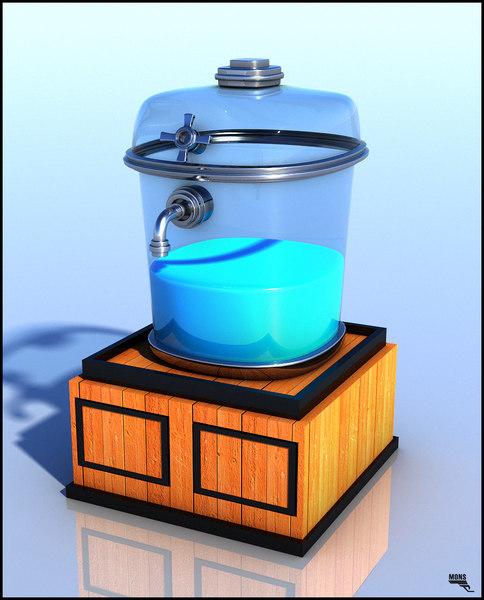 obj dispenser water cartoon