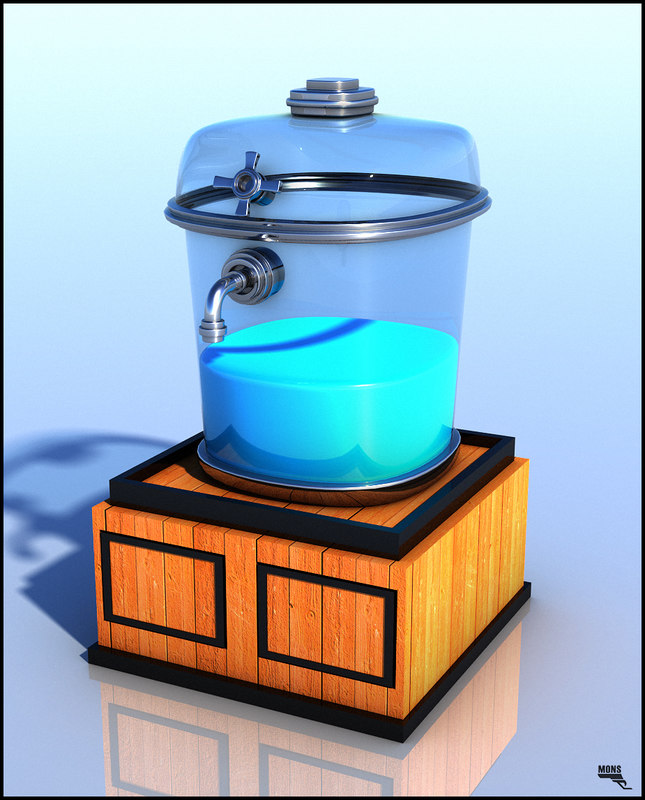 obj dispenser water cartoon