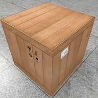 wooden box lowpoly