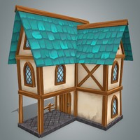 3d model fantasy house 2
