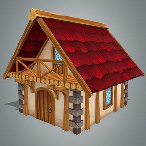 fantasy house 3 3d model