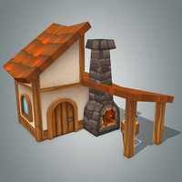 3d fantasy house 4 model