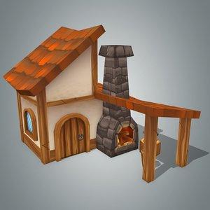 3d fantasy house 4 model