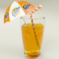 fanta cup ice 3d model
