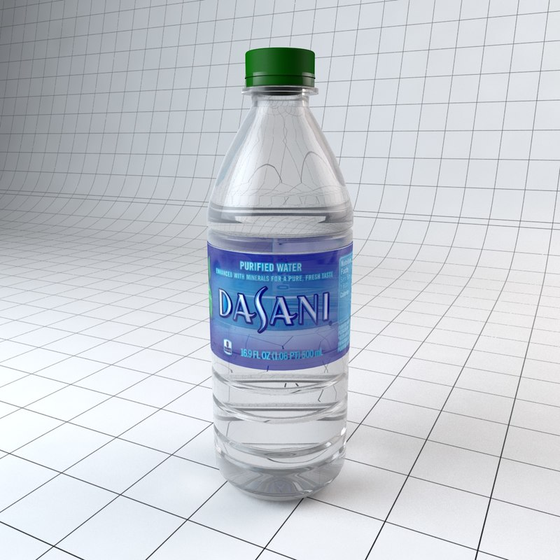 3d model bottle dasani water