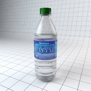 3d model bottle dasani water