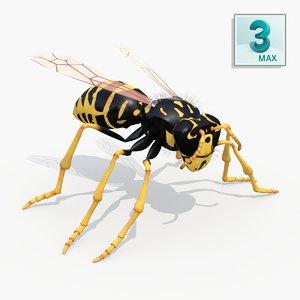 realistic wasp - max