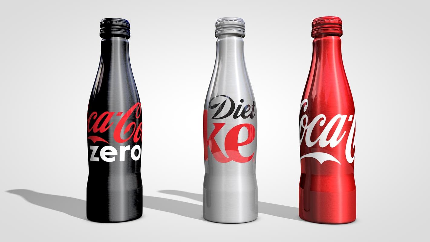 aluminum coke bottles c4d